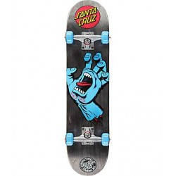 BOARD COMPLETE SANTA CRUZ KID SCREAMING HAND BLACK 7.25