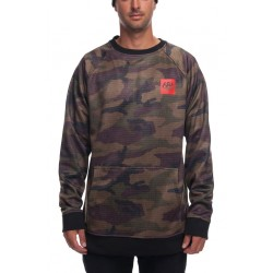 SWEAT 686 KNOCKOUT BONDED FLEECE CREW - DARK CAMO