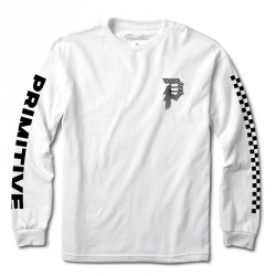T-SHIRT PRIMITIVE DIRTY P WARP LS - WHITE