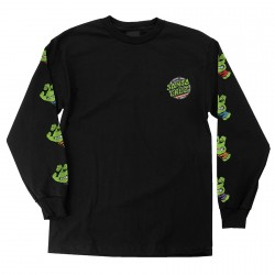 T-SHIRT SANTA CRUZ TMNT SEWER DOT LS - BLACK