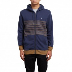 SWEAT KID VOLCOM THREEZY ZIP - DEEP BLUE