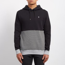 SWEAT VOLCOM THREEZY HOOD - BLACK