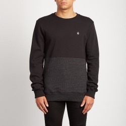 SWEAT VOLCOM SINGLE STONE DIVISION CREW - SULFUR BLACK