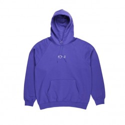 SWEAT POLAR HOOD DEFAULT - DEEP PURPLE/WHITE