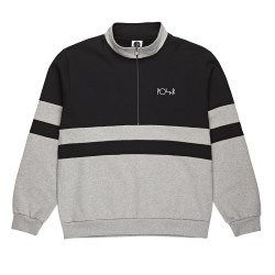SWEAT POLAR SKATE CO BLOCK ZIP - BLACK HEATHER GREY