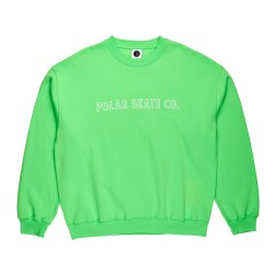 SWEAT POLAR SKATE CO OUTLINE CREWNECK - SUMMER GREEN