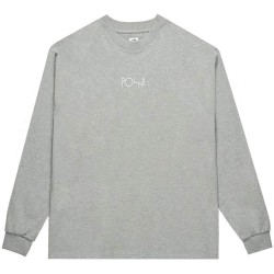 T-SHIRT POLAR SKATE CO DEFAULT LS - HEATHER GREY