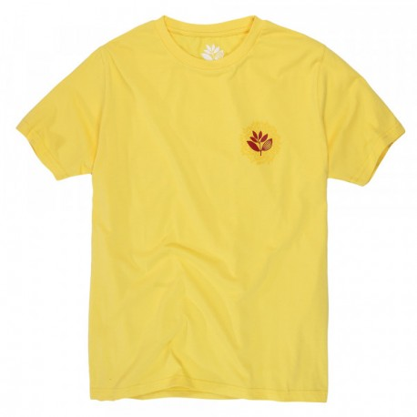 T-SHIRT MAGENTA ENERGY - PALE YELLOW