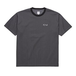 T-SHIRT POLAR SKATE CO VERTICAL STRIPE - BLACK