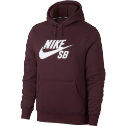 SWEAT NIKE SB ICON HOOD - BURGUNDY CRUSH
