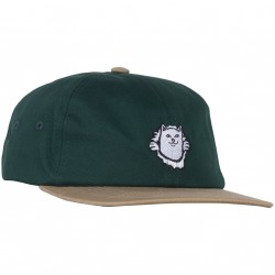 CASQUETTE RIPNDIP NERMAMANIAC STRAPBACK - TAN / HUNTER GREEN
