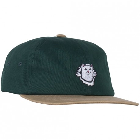 CASQUETTE RIPNDIP NERMANIAC STRAPBACK - TAN / HUNTER GREEN