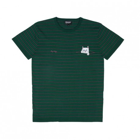 T-SHIRT RIPNDIP PEEKING NERMAL KNIT - HUNTER GREEN / FUSCHIA