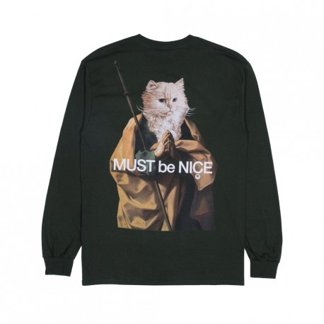 SWEAT RIPNDIP NERMUS L/S - HUNTER GREEN