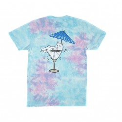 T-SHIRT RIPNDIP DIRTY NERMTINI - BLUE / ACID PINK WASH