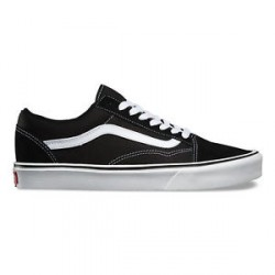 CHAUSSURES VANS OLD SKOOL LITE SUEDE / CANVAS - BLACK / WHITE