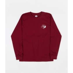 T-SHIRT MAGENTA PLANT OUTLINE L/S - BURGUNDY