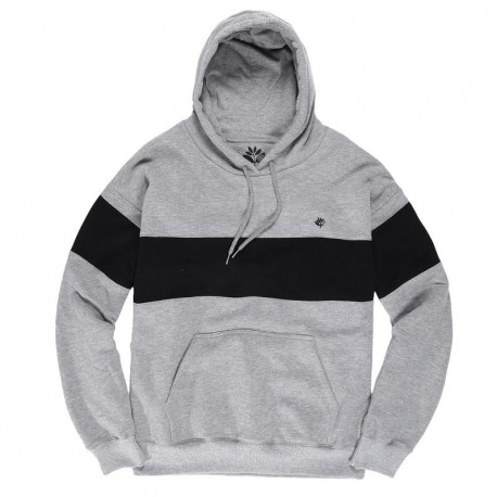 SWEAT MAGENTA BRODE HOODIE - HEATHER GREY