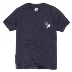 T-SHIRT MAGENTA PLANT OUTLINE - DARK GREY