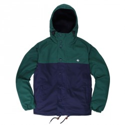 VESTE MAGENTA HEAVY HOODED COACH DUO - GREEN / NAVY