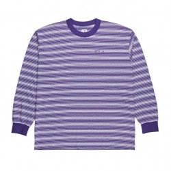 T-SHIRT POLAR SKATE CO GRADIENT LS - DEEP PURPLE WHITE