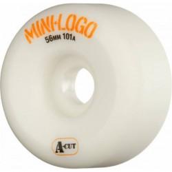 ROUES MINI LOGO WHEELS A-CUT 56MM 101A - WHITE