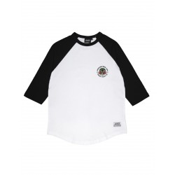 T-SHIRT RAGLAN JACKER SOCIAL CLUB - WHITE BLACK