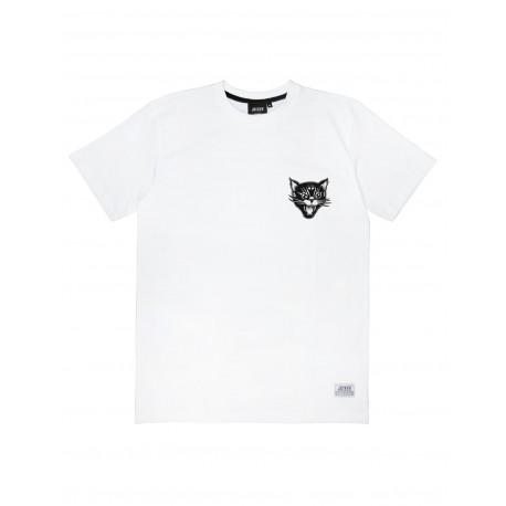 T-SHIRT JACKER BLACK CATS - WHITE