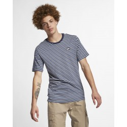 T-SHIRT NIKE SB STRIPE - WHITE/BLUE