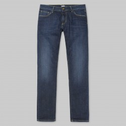 PANTALON CARHARTT WIP REBEL PANT ELASTANE - BLUE DEEP COAST WASHED