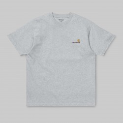 T-SHIRT CARHARTT AMERICAN SCRIPT - ASH HEATHER