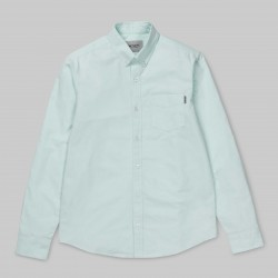 CHEMISE CARHARTT WIP BUTTON DOWN POCKET SHIRT LS - LIGHT YUCCA