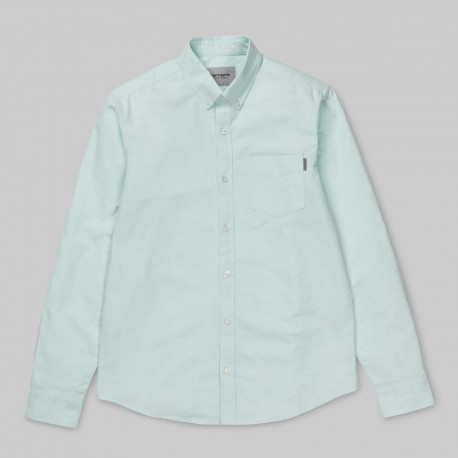 CHEMISE CARHARTT BUTTON DOWN POCKET SHIRT - LIGHT YUCCA