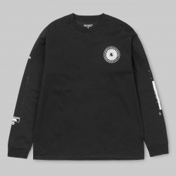 T-SHIRT CARHARTT WIP CONFIDENTIAL LS - BLACK WHITE