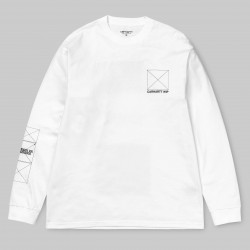 T-SHIRT CARHARTT WIP DREAMING LS - WHITE BLACK