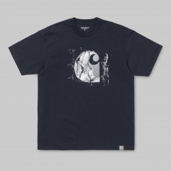 T-SHIRT CARHARTT WIP BROKEN GLASS - DARK NAVY