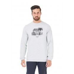 SWEAT PICTURE ORGANIC CLUB - LIGHT GREY