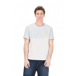 T-SHIRT PICTURE ORGANIC MAINE POCKET - LIGHT GREY