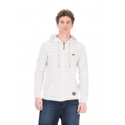 SWEAT PICTURE ORGANIC BASICALLY SAIL ZIP - SAILOR RED