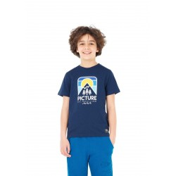 T-SHIRT PICTURE ORGANIC NOUGAT - DARK BLUE