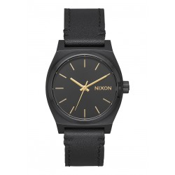 MONTRE NIXON MEDIUM TIME TELLER LEATHER - ALL BLACK