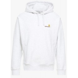 SWEAT CARHARTT WIP HOODED AMERICAN SCRIPT - ASH HEATHER
