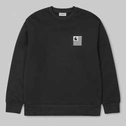 SWEAT CARHARTT WIP STATE PATCH - BLACK