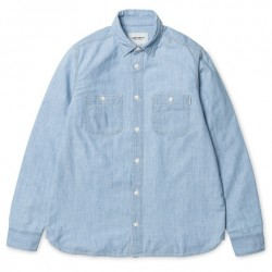 CHEMISE CARHARTT WIP CLINCK L/S - BLUE STONE BLEACHED