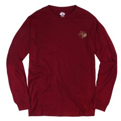 T-SHIRT MAGENTA PLANT OUTLINE LS '19 - BURGUNDY