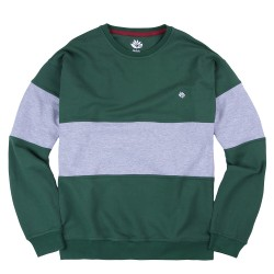 SWEAT MAGENTA CREWNECK BRODE '19 - GREEN ASH HEATHER