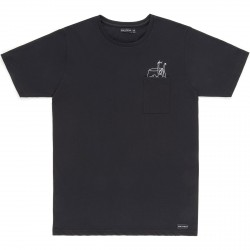 T-SHIRT BASK IN THE SUN BAIN - BLACK