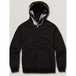 SWEAT VOLCOM COOL STONE FULL ZIP - BLACK