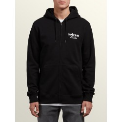 SWEAT VOLCOM KID SUPPLY STONE ZIP - BLACK OUT