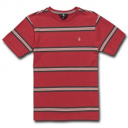 T-SHIRT VOLCOM KID BEAUVILLE CREW - BURGUNDY